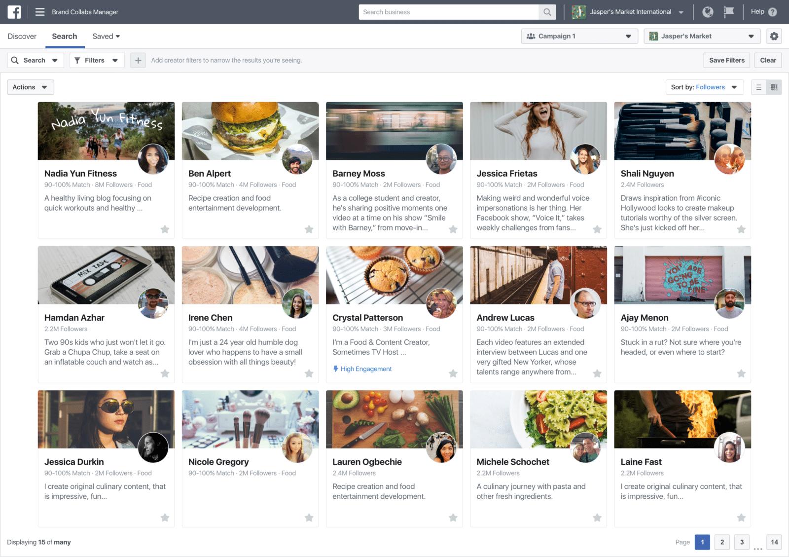 ชมภาพเต็ม ๆ  เครื่องมือค้นหา Influencer สำหรับ Brand บน Facebook