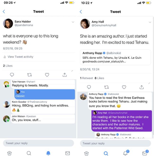 Twitter ทดสอบหน้าตาการตอบกลับแบบใหม่ เน้นเหมือนคอมเม้นมากขึ้น