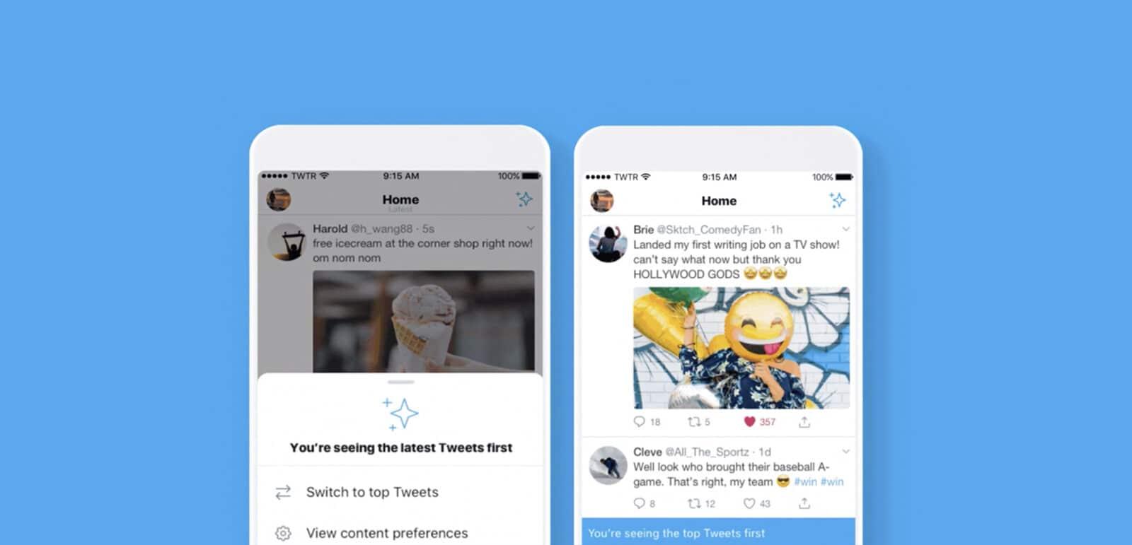 Twitter ทดสอบฟีเจอร์ที่ให้ผู้ใช้เลือกได้ว่าจะให้เรียงตามเวลาหรือตามความนิยม