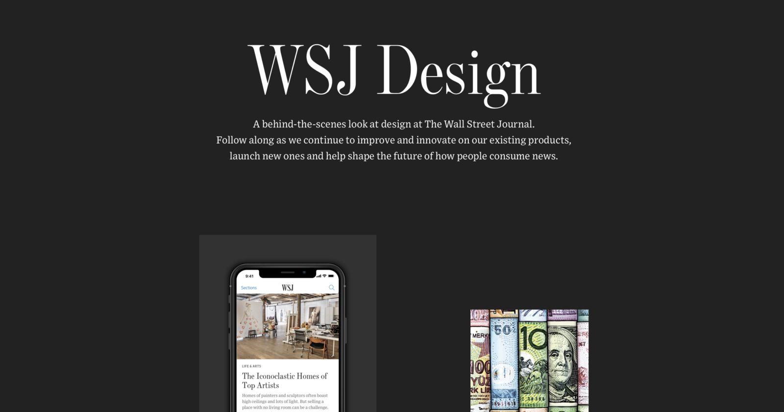 WSJ เปิดหน้าเว็บ โชว์เบื้องหลังการออกแบบเว็บและแอพข่าว