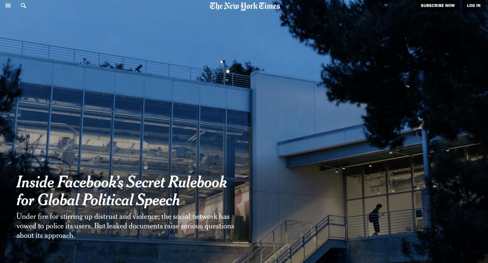 Facebook ออกมาโต้ หลัง New York Times บอกระบบกรอง Hate Speech ไร้คุณภาพ