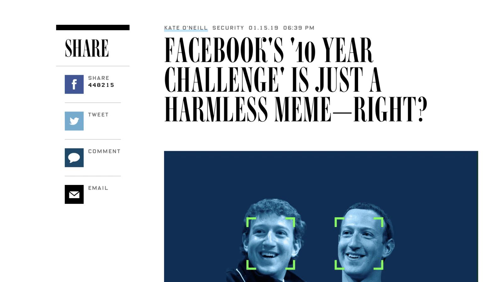 Facebook โดนตั้งข้อสังเกตอาจอยู่เบื้องหลัง 10 Years Challenge เพื่อเทรน AI