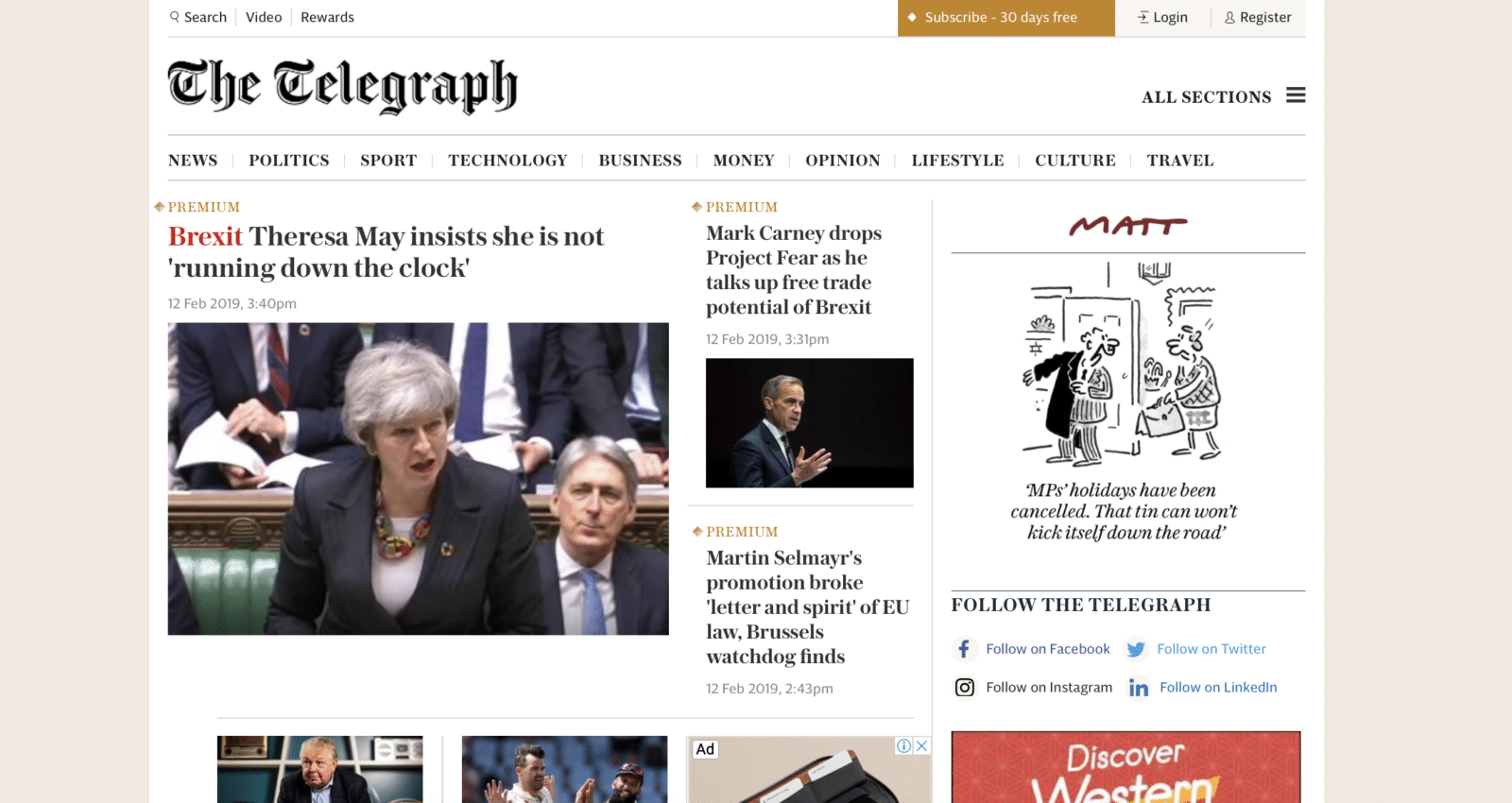 กลยุทธ์การทำ User Payment  ของ The Telegraph หวังสมาชิก 10 ล้านคน