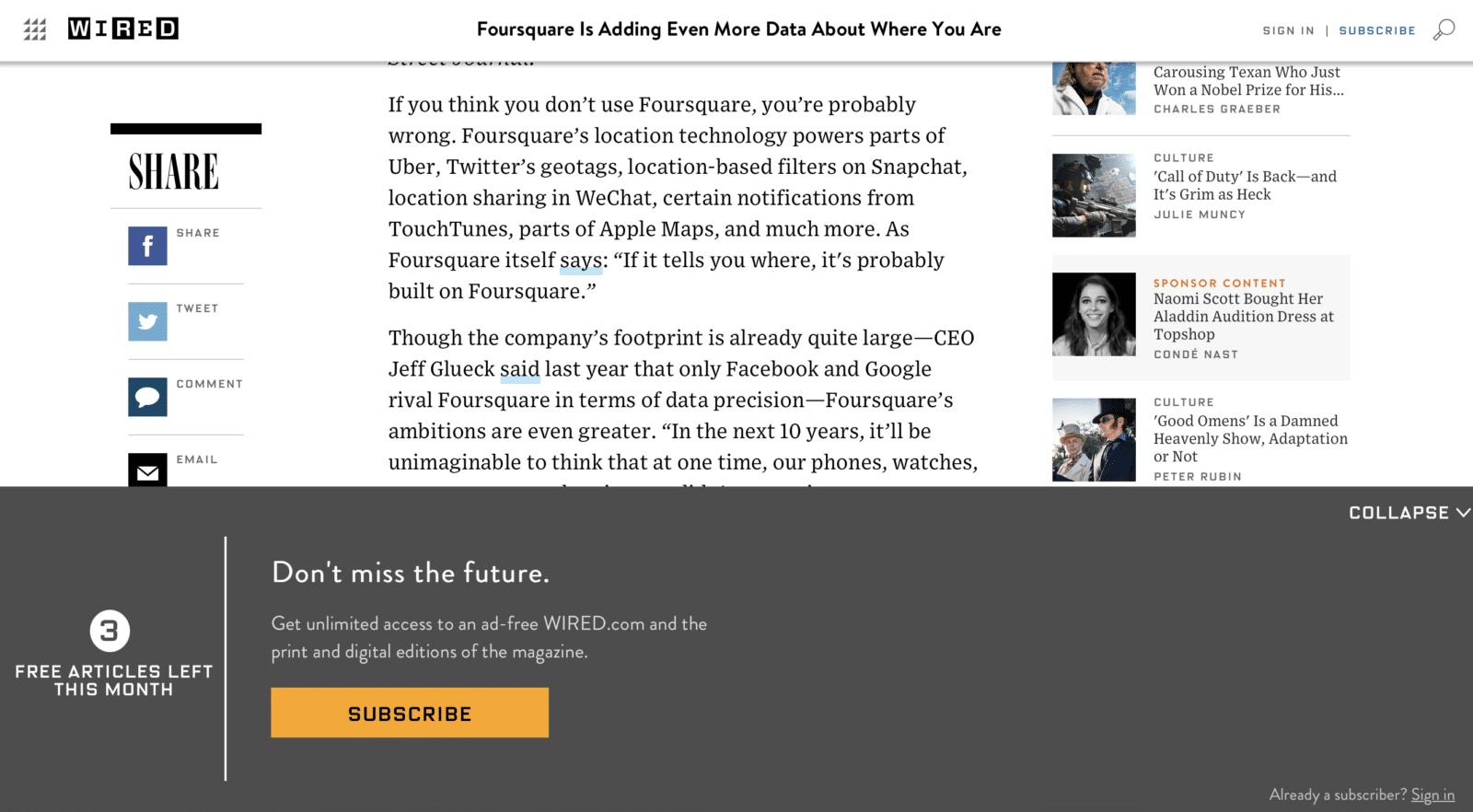ให้ Sponsor เป็นคนจ่ายค่า Pay Wall วิธีคิดใหม่ของ Wired ที่ได้กันทั้งสองฝ่าย
