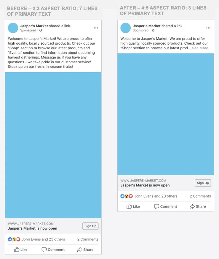 Facebook Ads จะโชว์ ตัวอักษรได้น้อยลง และกินพื้นที่บนหน้าจอน้อยลง