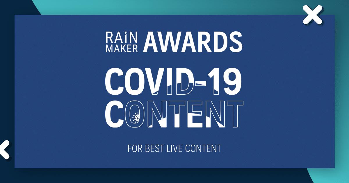 RAiNMaker AWARDS: COVID-19 Content รายชื่อผู้ชนะและผู้เข้าชิงสาขา Live Content